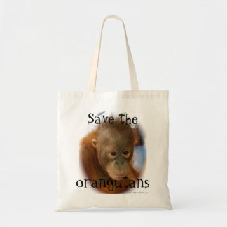 Orangutan Wildlife Conservation Tote Bag