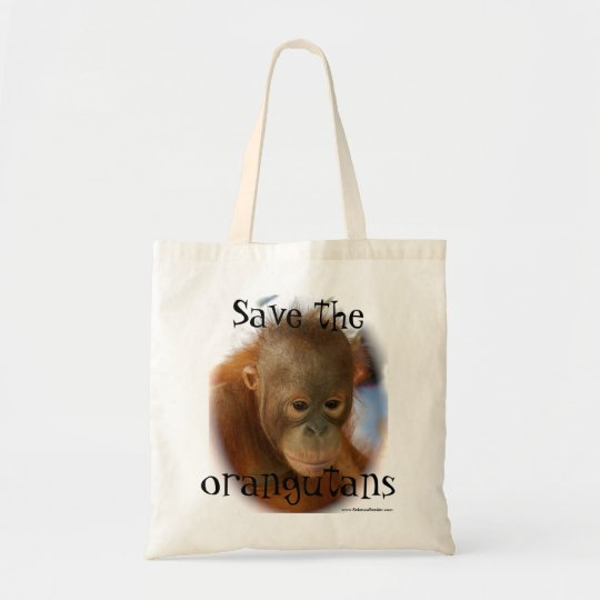 Orangutan Wildlife Conservation Tote Bag