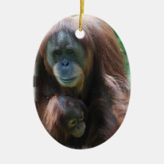 Orangutan with Baby Ornament
