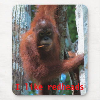 Orangutans  I like redheads Mouse Pad