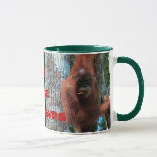 Orangutans I Like Redheads Mug
