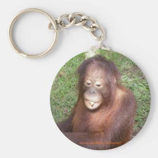 Orangutans Rescue Basic Round Button Key Ring