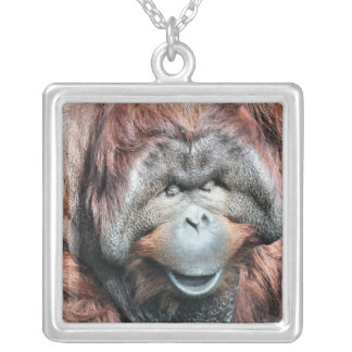 ORANGUTANS SILVER PLATED NECKLACE