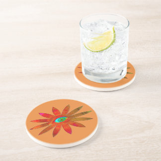 Orangy Eye Flower Coaster