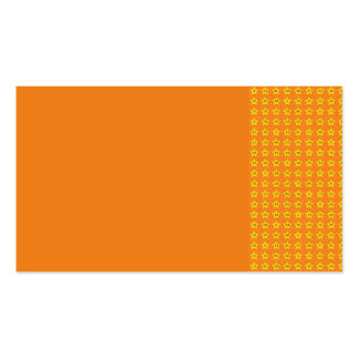 ORANGY ORANGE YELLOW STARS PATTERN WALLPAPERS TEMP BUSINESS CARD