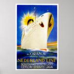 Oranje ~ Nederland Line Posters