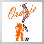 Oranje Netherlands flag  Total football banner Poster