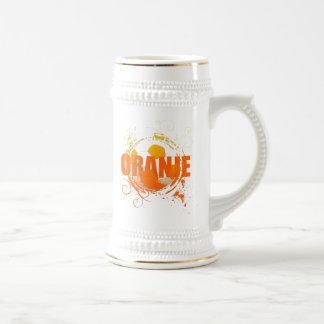 Oranje Soccer fans soccer grunge ball gifts Beer Stein