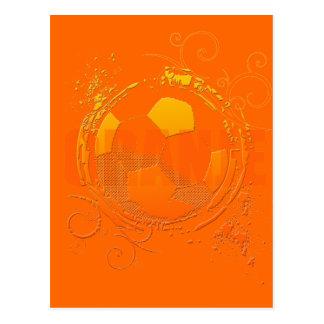Oranje Soccer fans soccer grunge ball gifts Postcards