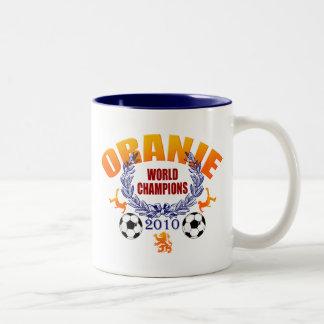 Oranje World Champions 2010 Netherlands gifts Two-Tone Coffee Mug