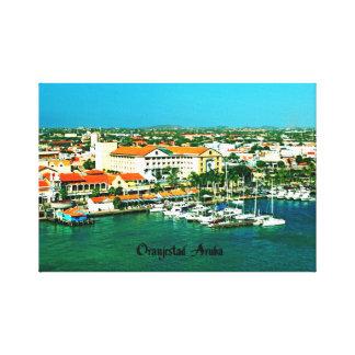 Oranjestad Aruba Stretched Canvas Print