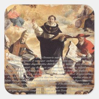 Oratio S. Thomae Aquinatis ante studium Square Sticker