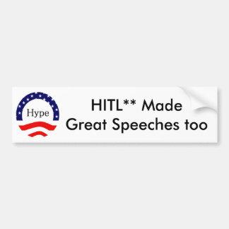 Orators, customizable. car bumper sticker