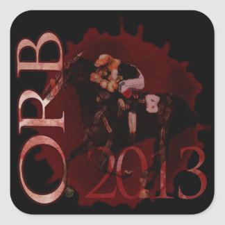 Orb 2013 Horse Racing apparel & gifts Square Sticker