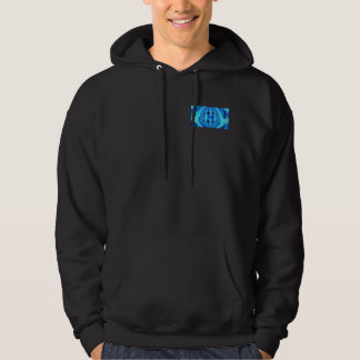Orb Blue hooded sweatshirt pocket & back