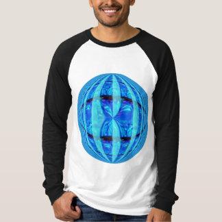Orb Blue Round t-shirt long sleeve raglan