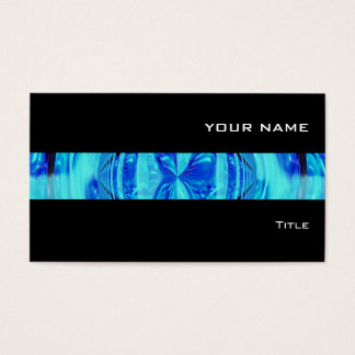 Orb Blue stripe business card black