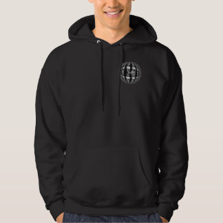 Orb Chrome Black Round sweatshirt pocket & back