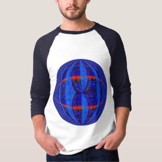 Orb Dark Blue Round t-shirt 3/4 sleeve raglan