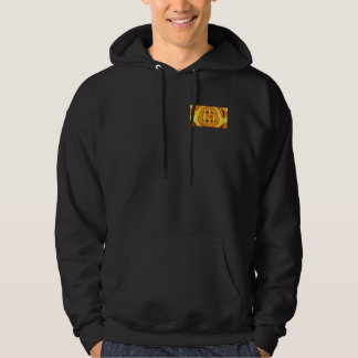 Orb Gold hooded sweatshirt pocket & back