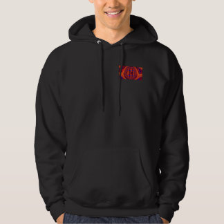 Orb Red hooded sweatshirt pocket & back