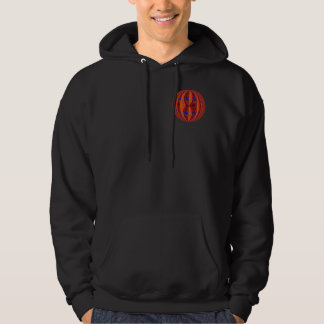 Orb Red Round sweatshirt pocket & back