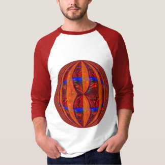 Orb Red Round t-shirt 3/4 sleeve raglan