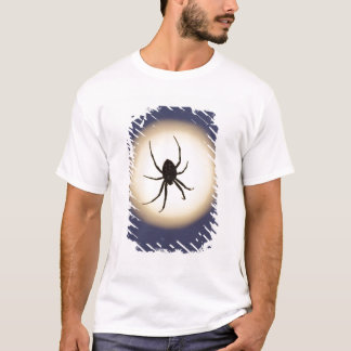 Orb spider on web with full moon, in south T-Shirt