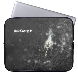 Orb Weaver Clutching Web Laptop Sleeves