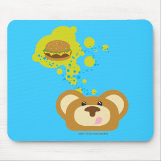 orbiebear with cheese burger mouse mat