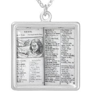 'Orbis Sensualium Pictus' Silver Plated Necklace