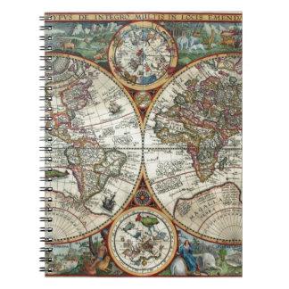 Orbis Terrarum 1594 - Famous World Map Notebook