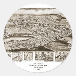 Orbisonia and Rock Hill Round Sticker