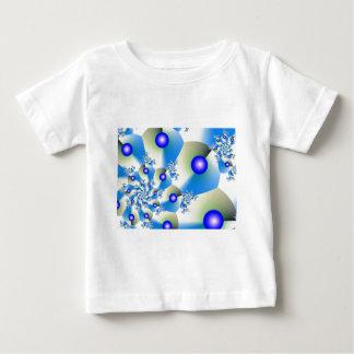 Orbit in Blue Fractal Design Baby T-Shirt