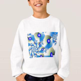 Orbit in Blue Fractal Design Sweatshirt