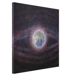 Orbital Debris / Space Debris Painting Print Canvas Print