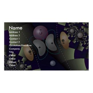 Orbital overlap in H atom Orbit Business Card Templates