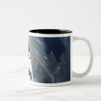 Orbiting Spacecraft Two-Tone Coffee Mug