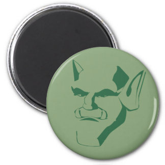 orc creature cranky face customizable 6 cm round magnet