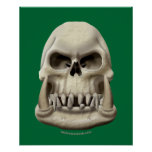 Orc Skull Print