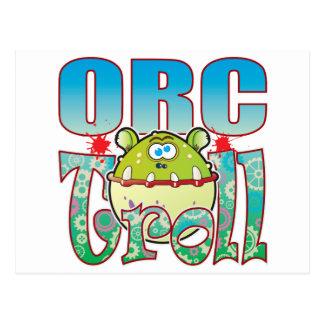 Orc Troll Postcard