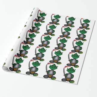 Orc (with logos) wrapping paper