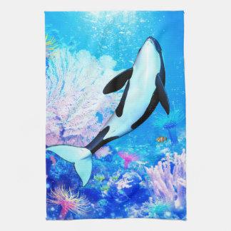 Orca 3 tea towel