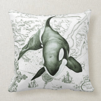 Orca Ancient Green Cushion