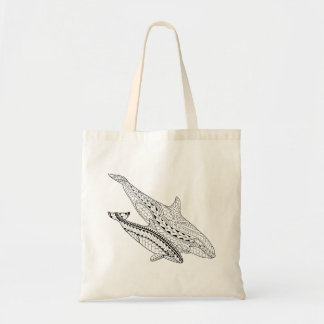 Orca And Baby Adult Coloring Tote Bag