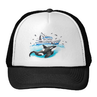 Orca And The Boat Cap