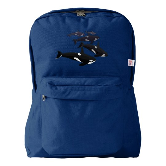 Orca Backpack Killer Whale School Bags Customise