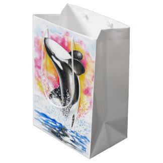 Orca Breaching Medium Gift Bag