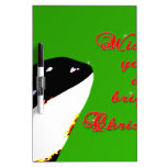 Orca Christmas Hops to the Holiday Dry-Erase Boards