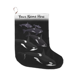 Orca Christmas Stocking Personalized Killer Whale